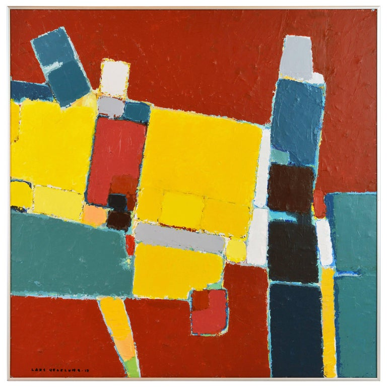'Pompeian' Contemporary Urban Abstract by Lars Hegelund, American