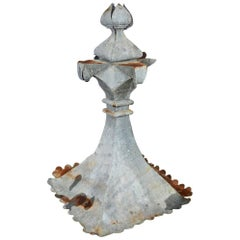 French Zinc Building Finial