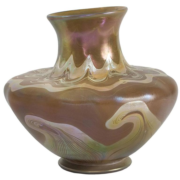Tiffany Studios New York Favrile Glass Vase