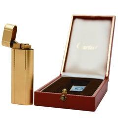 Cartier Gold Plated Lighter, 1990s