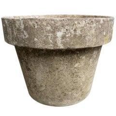 Wide Rim Cement Planter