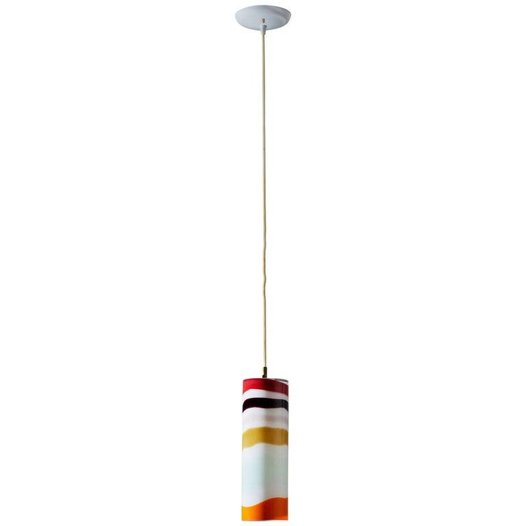 Murano Pendant Light Attributed to Massimo Vignelli for Venini