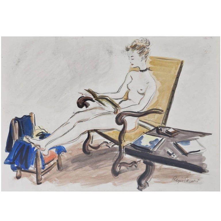 Sitting Beauty by Régis Manset, France, Mid-20th Century