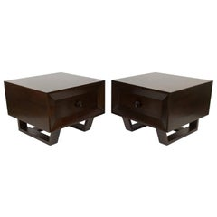 Pair of Paul Frankl Style Mahogany End Tables
