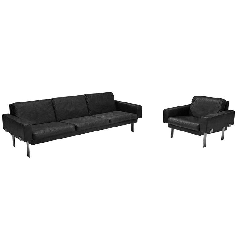 Illum Wikkelsø Leather Living Room Set