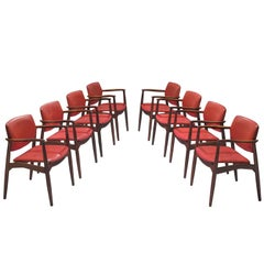 Erik Buch Set of Eight Rosewood Chairs