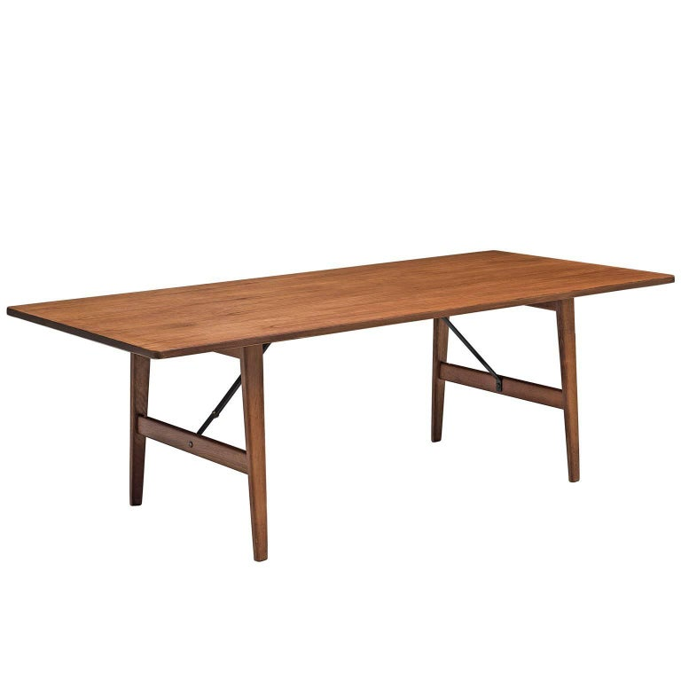 Børge Mogensen for Frederica Stolefabrik Teak and Oak Hunting Table