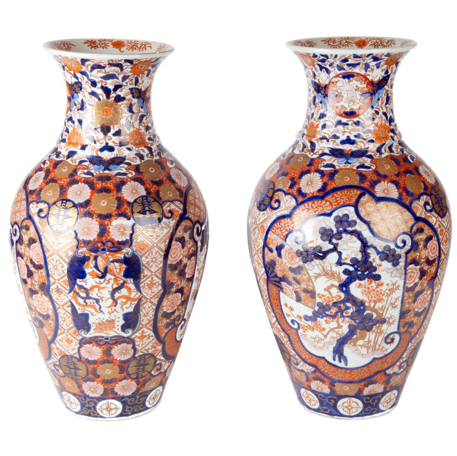 Pair of 19th Century Japanese Imari Vases