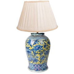 19th Century Chinese Famille Juane Vase or Lamp