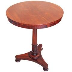 Antique Regency Rosewood Circular Lamp Table