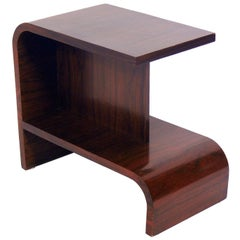 Streamlined Art Deco Rosewood Side Table