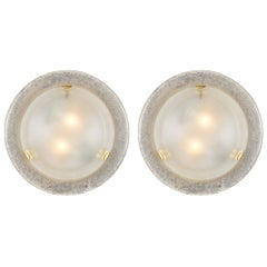 Murano Glass Vintage Round Wall Sconces