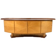 Dutch Art Deco Sycamore Sideboard or Credenza by Gebroeders Reens, 1930s