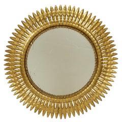 Gilt Floral Midcentury Mirror