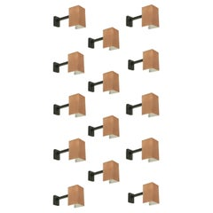 Set of 14 Wall Lights in Copper by Finn Lunde, Norway, 1970s