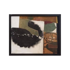 Mixed-Media in White, Green, Black and Brown Tones by George North Morris