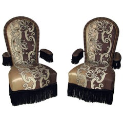 Jacques Garcia Pair of Luxurious Armchairs Napoleon III Style