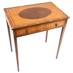 Massachusetts Federal Mahogany and Bird's-Eye Maple Side Table, circa 1800