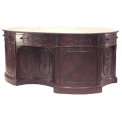 English Georgian '19th Century' Mahogany Oval Partners Desk