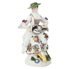 Tirolean Lady, Meissen 18th Century