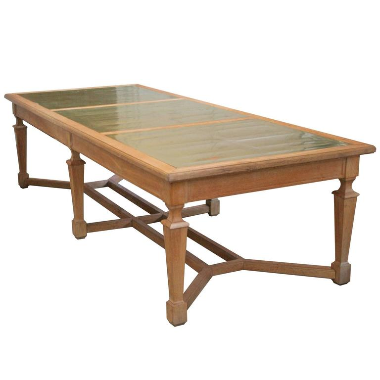 Large French Oak Monastery Table