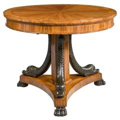 19th Century Olivewood and Walnut Centre Table