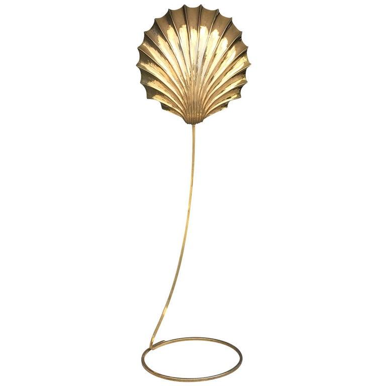Mid-Century Modern Tomasso Barbi Floor Lamp in Brass