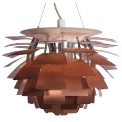 Large Copper Artichoke Lamp by Poul Henningsen for Louse Poulsen
