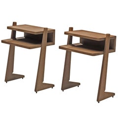 Guillerme & Chambron Oak Nightstands