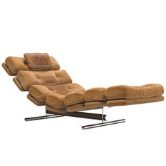 Chaise Lounge or Gervan Belgium in Original Upholstery