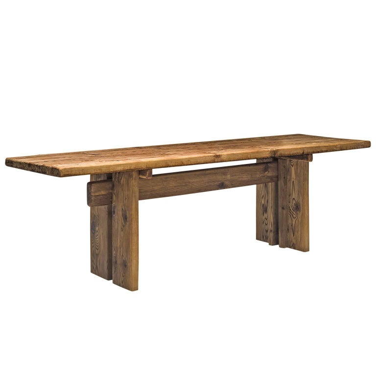 French Dining Table in Pine