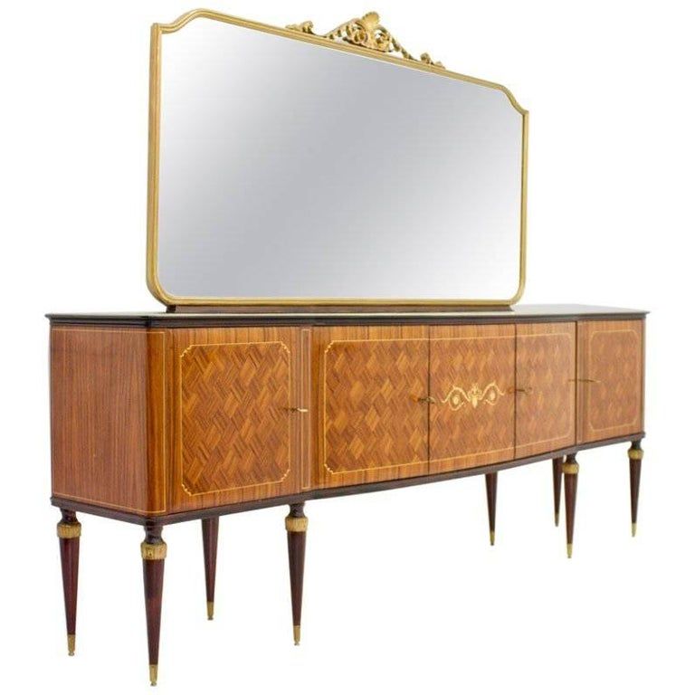Italian Sideboard Credenza with Mirror, 1959