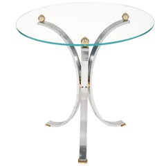 Chrome Modernist Side Table