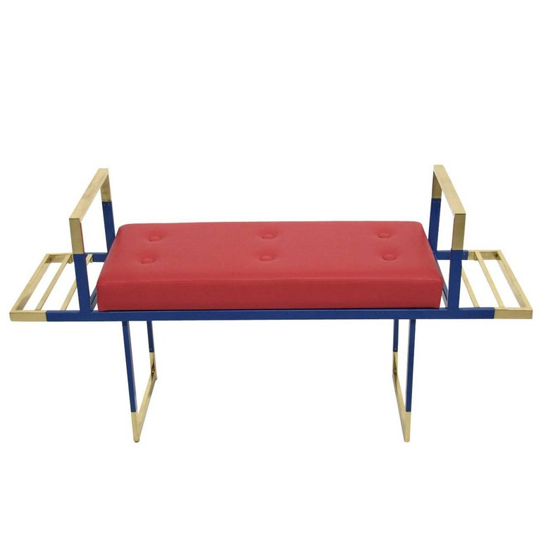 Mondrian Red Bench