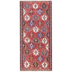 Gallery Size Antique Tribal Caucasian Kuba Kilim Rug