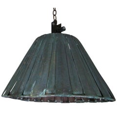 Large Industrial Metal Ceiling Pendant in Shape of a Lamp Shade