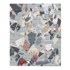 Moulin Rouge Rug, Contemporary Wool and Silk Handmade Fine Rug