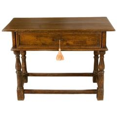 Late 17th-Early 18th Century Italian Table with One Drawer