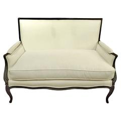 Superb 19th Century French Tailored Loveseat Settee