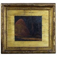 20th Century Italian Oil on Plywood Painting 'Castiglioncello' by Oscar Ghiglia