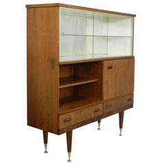 Midcentury Vitrine Cabinet Showcase Scandinavian Style Living Room