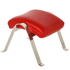 Foot Stool in Red Offered by Vladimir Kagan Design Group