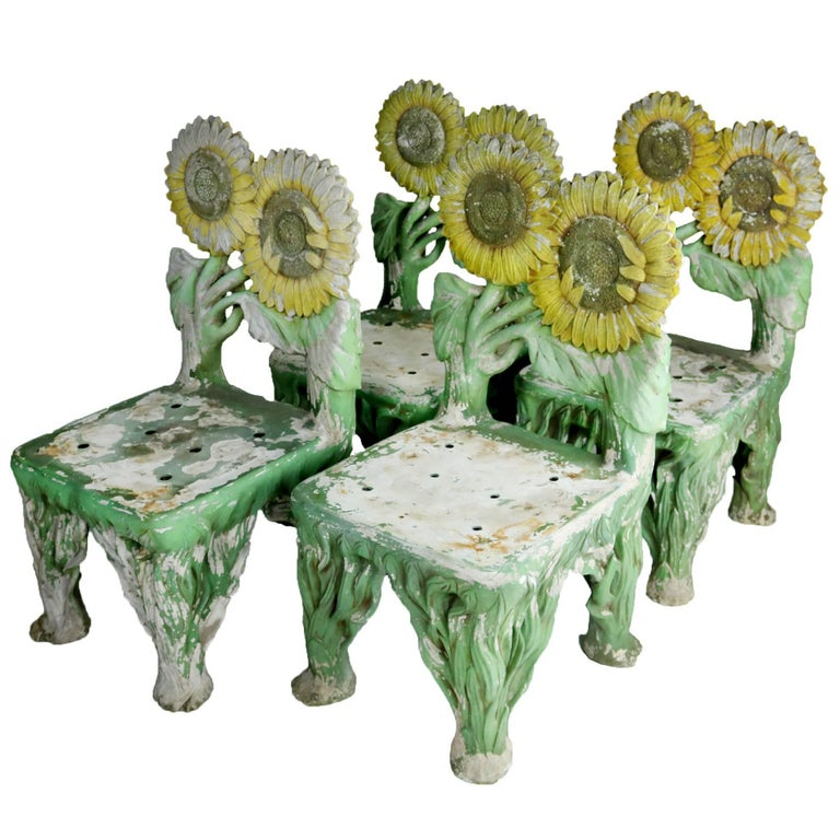 Set of Four Sunflower Chairs