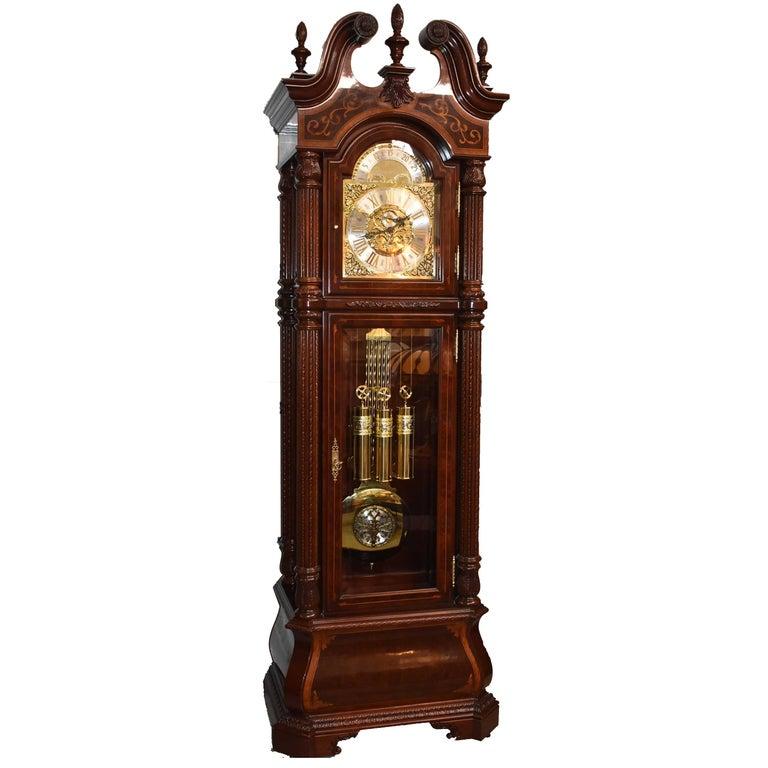 J.H. Miller Grandfather Floor Clock Limited Edition Howard Miller 611-030 T For Sale