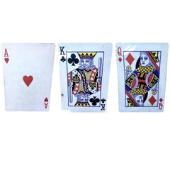 Hand-Painted Playing Cards on Wood