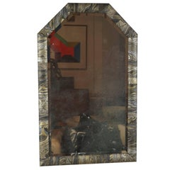 Black and Gold Marbleized Mirror