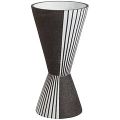 Palm Springs Giant 'Checker' Stoneware Vase