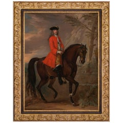 Portrait of a Nobleman on Horseback by Artist John Wootton, English Baroque