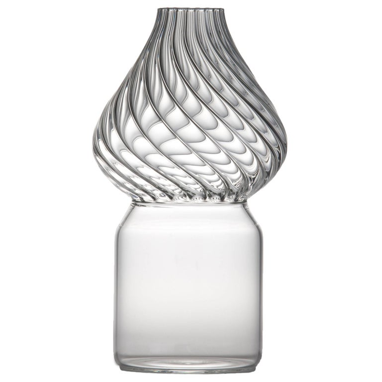 Red Square Glass Vase By Giorgio Bonaguro For Driade For Sale At 1stdibs