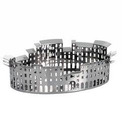 100 Piazze Luccia Piazza Mercato Silver Plated Tray by Fabio Novembre for Driade